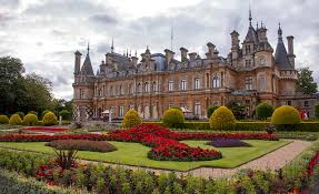 wallpaper palace england waddesdon manor parks lawn bush cities