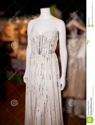 elegant wedding gown on mannequin stock photos image 28907623