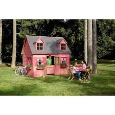 maisonnette de jardin enfant maisonnette rosalie en bois pour enfants plancher inclus traité