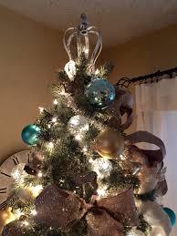 crown christmas tree topper christmas lights decoration