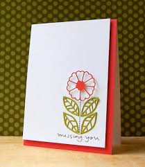 flower style handmade card with simple message nationtrendz