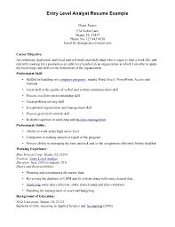 Sample Resume Objectives Business by Business Analyst Sample Resume Finance Free Resume Example And