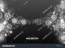 vector magic falling snow effect white stock vector 746525437