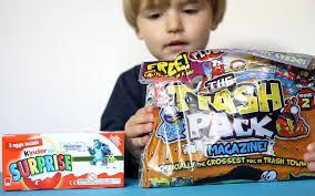trash pack magazine 2 kinder surprise monsters university eggs