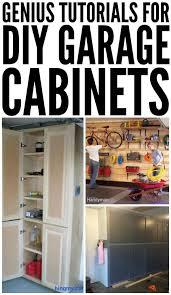 Woodworking Garage Cabinets Tutorials For Diy Garage Cabinets