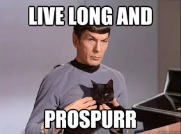 Meme Live - live long and prospurr prosper star trek spock cat meme