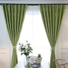 Leaf Design Curtains White Leaf Embroidery Linen Cotton Country Long Curtains For