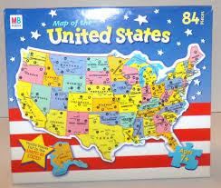 map usa jigsaw of the united states usa jigsaw puzzle 84 pieces hasbro milton bradley