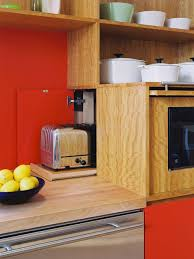 Orange Kettle And Toaster Toaster Storage Houzz