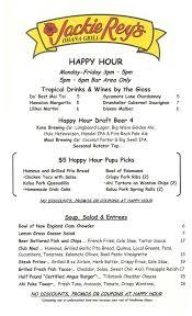 martini bar menu jackie rey u0027s hilo menus