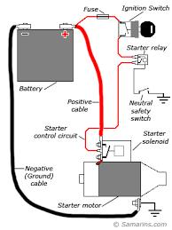 starter motor starting system within motor relay wiring diagram