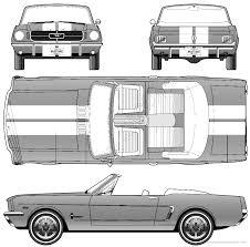 1964 ford mustang convertible blueprint ford mustang pinterest