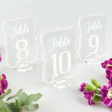 acrylic table numbers wedding royal shape acrylic wedding table numbers personalised favours