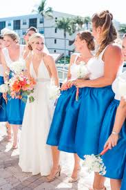 nautical wedding party a nautical coral and blue destination wedding every last detail