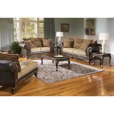 living room furniture san antonio amazon com roundhill furniture san antonio traditional 2 tone sofa