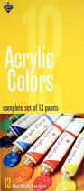 amazon com nicole acrylic colors set 12 tubes 12 ml each