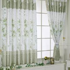 wavors traditional chinese style curtains bamboo calico finished