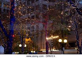 washington westlake park in downtown seattle with christmas