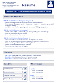 Strategy Resume Download A Professional Cv Template U0026 Resume Template In Powerpoint