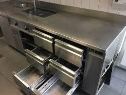 edelstahlküche gebraucht edelstahl küche mit induktion herd 6 kühlschubladen in baden