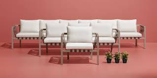 jibe extra long modern outdoor sectional sofa blu dot
