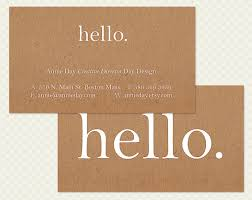 hi business card design hello shabby chic by crookedlittlepixel