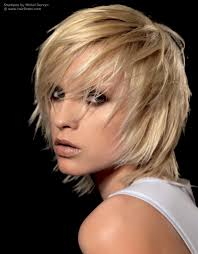 shag hairstyle with razor cut layering and tousled styling