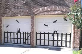 garage door decor with garage door halloween decorations