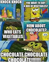 Chocolate Spongebob Meme - chocolate spongebob meme imgflip
