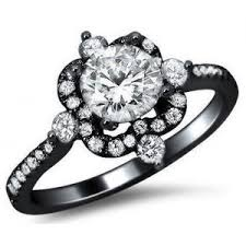black gold engagement ring 1 07ct diamond engagement ring 18k black gold antique