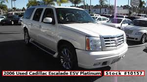 used cadillac escalade truck for sale 2006 used cadillac escalade esv platinum for sale in san diego at
