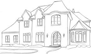houses drawings houses dream house sketches basic outline drawing home plans