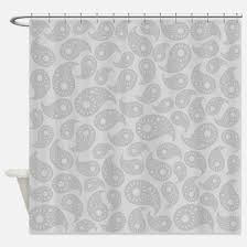 Paisley Shower Curtains Grey Paisley Shower Curtains Cafepress