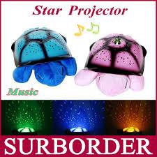 turtle led night light music star projector lamp for children