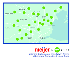 Rockford Zip Code Map by Meijer Brings Home Delivery Service To Southeast Michigan Stores