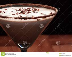 chocolate martini chocolate martini garnish stock photo image 22714530