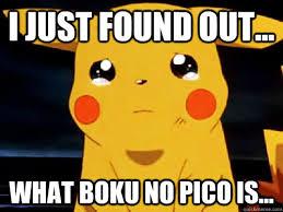 Boku No Pico Meme - i just found out what boku no pico is sad pika quickmeme