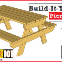 Picnic Table Plans Free Download by Children U0027s Picnic Table Plans Construct101