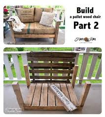 Build Wooden Patio Furniture by A Cool Pallet Wood Chair Anyone Can Make In A Couple Of Hours