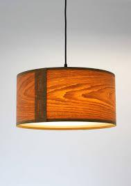 oak pendant lamp shade