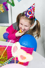 two cheerful clowns birthday children bright stock photo happy girl how in a birthday party stock photo