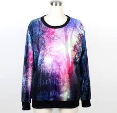 3d sweater harajuku 3d sweater sweatshirt galaxy sport suit