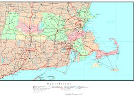 Massachusetts Map Cities And Towns by Massachusetts County Map