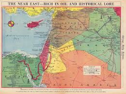 A New Map Of Jewish by Palestine Mandate