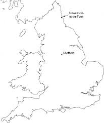 Michigan Map Outline by Outline Map Of England Showing The Locations Of Newcastle