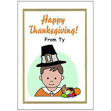personalized thanksgiving cards boy mandys moon