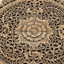 rustic carved wall art panel asian home decor siam sawadee