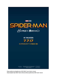 spider man homecoming new spiderman 2017 actor movie free movies u2026