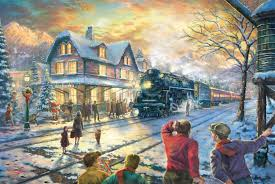 kinkade all aboard for boxcar