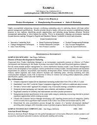 marketing executive resume product management and marketing executive resume exle and